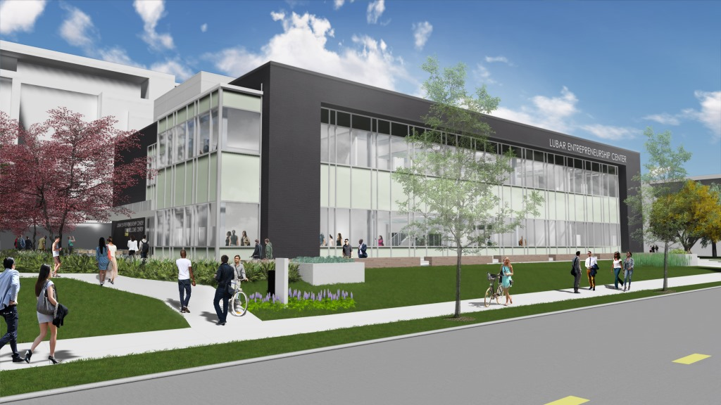 Lubar Center for Entrepreneurship. Rendering by Continuum Architects + Planners.