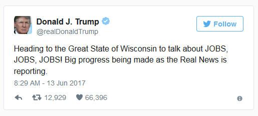 Trump Jobs Tweet.