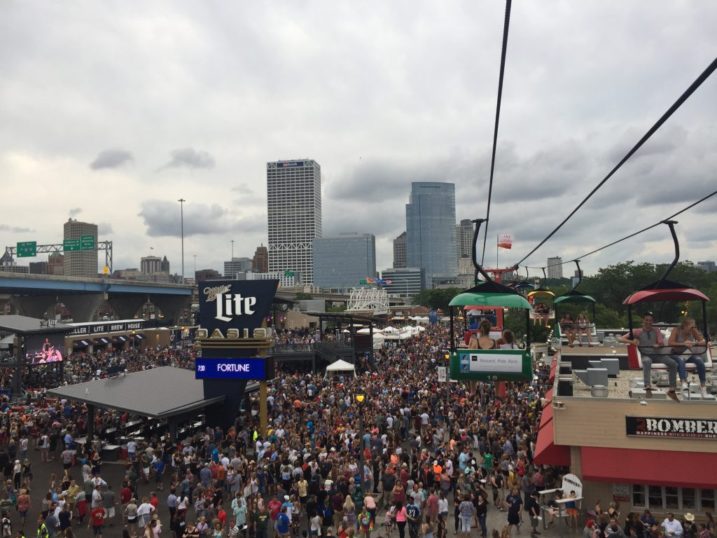 Summerfest from the sky glider. Photo by Alison Peterson.