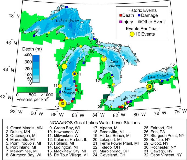 From: Meteotsunamis in the Laurentian Great Lakes