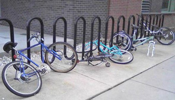 Wave racks. Photo from the City of Milwaukee.