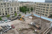 Construction of the Vim and Vigor Apartments at The Brewery. Photo by Jeramey Jannene.
