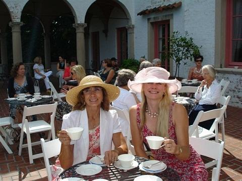 Tea on the Terrace. Photo courtesy of the Villa Terrace Decorative Arts Museum.
