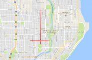 Proposed Bike Boulevards. Map by Graham Kilmer.