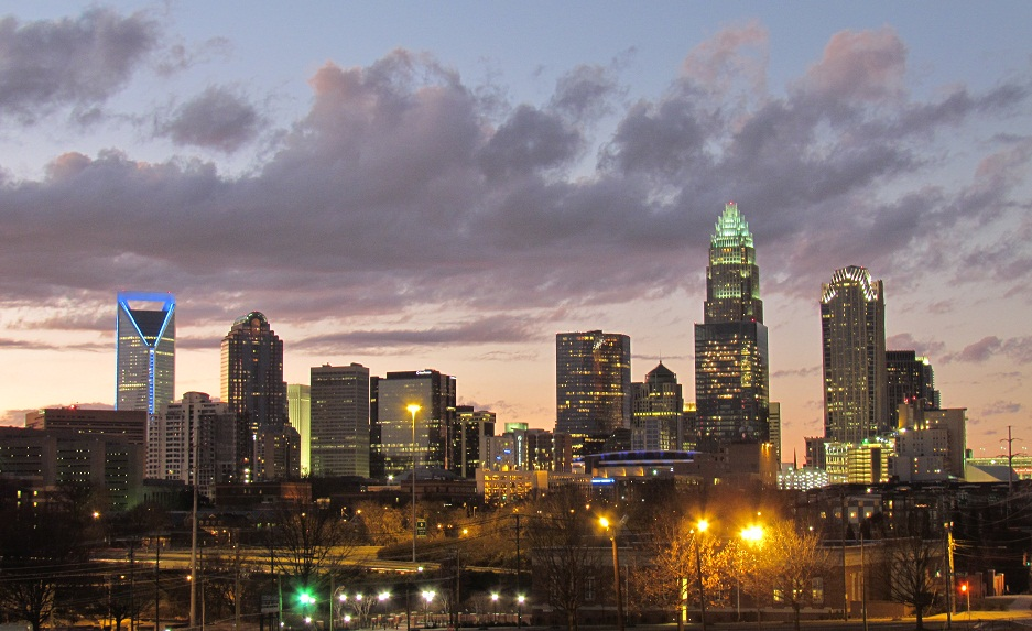 Charlotte, NC. Photo by Riction (Own work) [CC BY-SA 3.0 (http://creativecommons.org/licenses/by-sa/3.0) or GFDL (http://www.gnu.org/copyleft/fdl.html)], via Wikimedia Commons