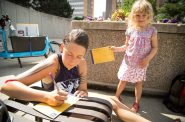 Postcards for safer streets were filled out by all ages
