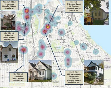 Property violations map.