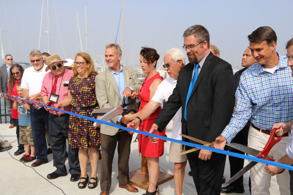 South Shore Park ribbon cutting. Photo from Milwaukee County.