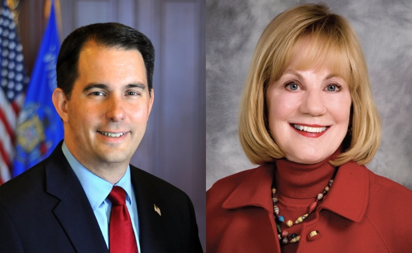 Scott Walker and Alberta Darling.