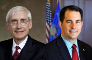 Tony Evers and Scott Walker.