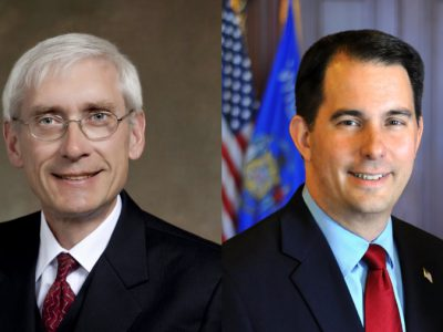 Walker, Evers Tied in Governor's Race