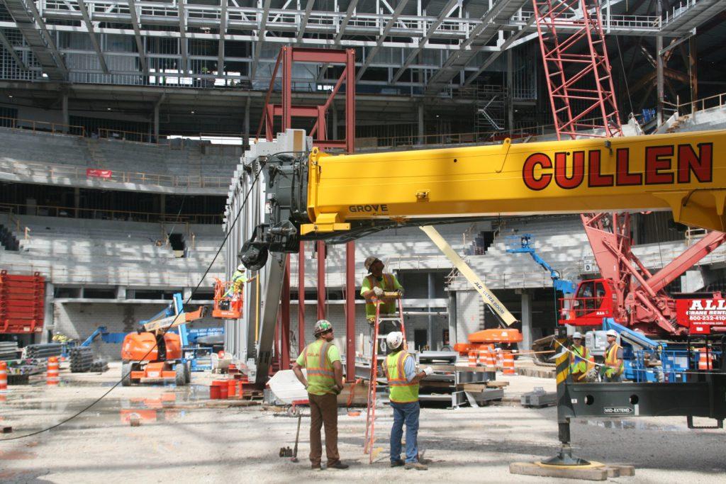 Arena Construction. Photo by Jeramey Jannene.