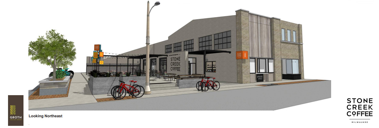 Stone Creek Coffee on Downer Ave. Rendering by Groth Design Group.