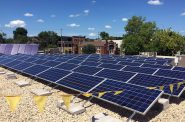 A solar installation at the Willy Street Co-op grocery store in Madison, Wisconsin. Photo from the Willy Street Co-op.