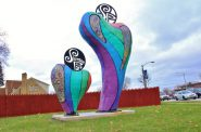 Compassion Sculpture in Sherman Park. Photo from the City of Milwaukee.