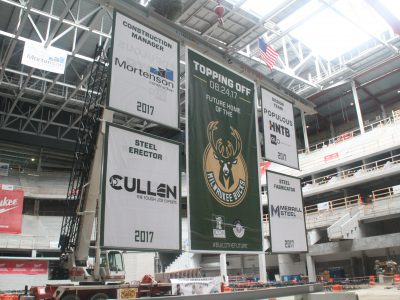 Eyes on Milwaukee: Bucks Top Off New Arena