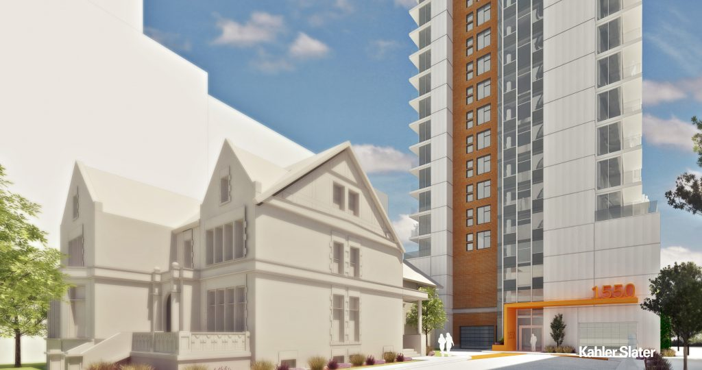 1550 N. Prospect Ave. Rendering. Rendering by Kahler Slater