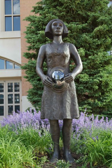 Alison Saar, Summer (2011), bronze, 96 x 28 x 30 inches, Photo by Tom Bamberger.