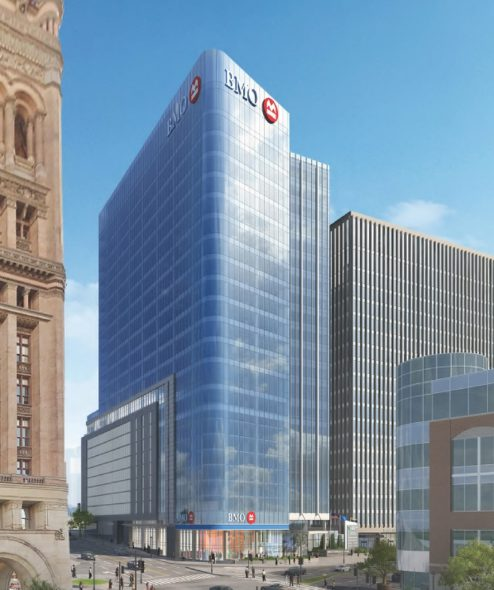 BMO Harris Financial Center Rendering. Rendering by Kahler Slater.