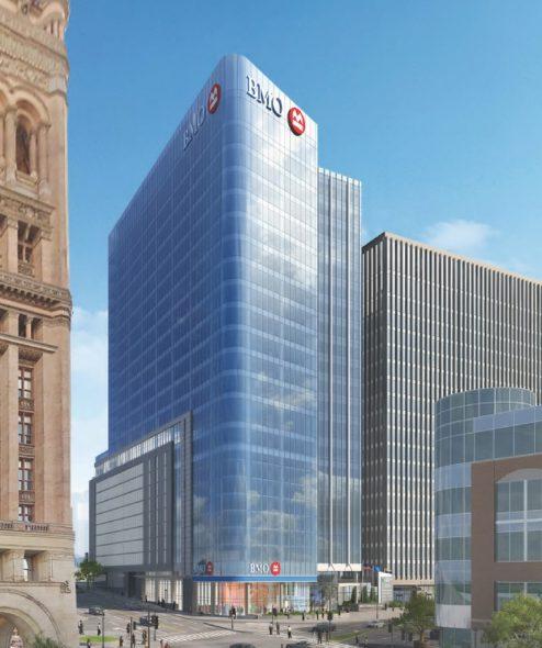 BMO Harris Financial Center Rendering. Rendering by Kahler Slater.