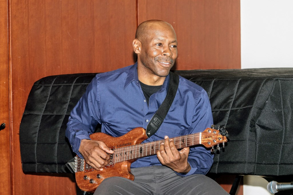 Kevin Eubanks at the Jazz Master Class held Saturday, August 19, 2017. Photo by Erol Reyal.