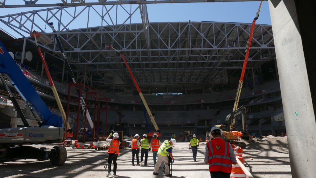 Inside the New Bucks Arena. Photo by Graham Kilmer.