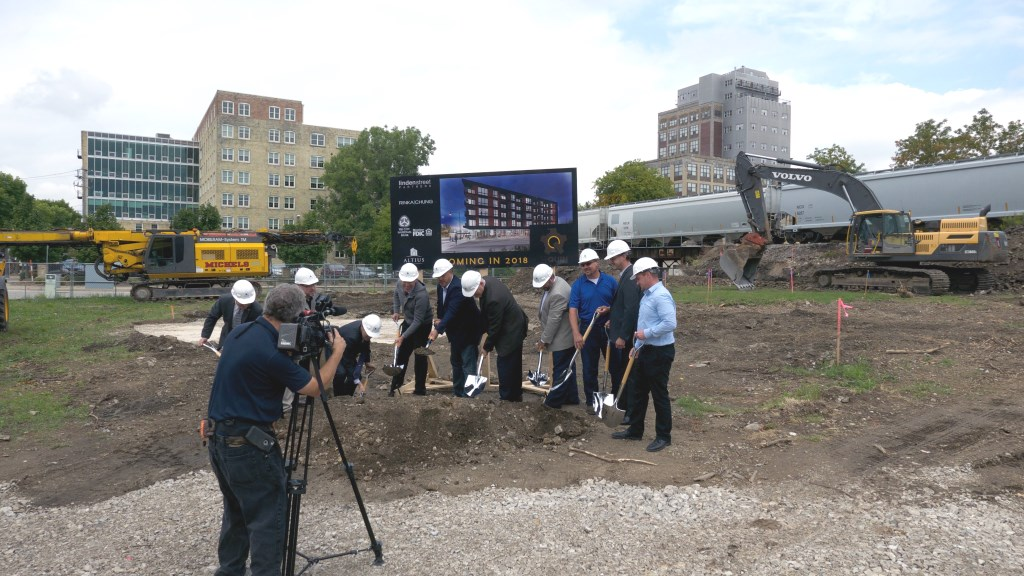 The Quin breaks ground in Walker's Point. Photo by Graham Kilmer.