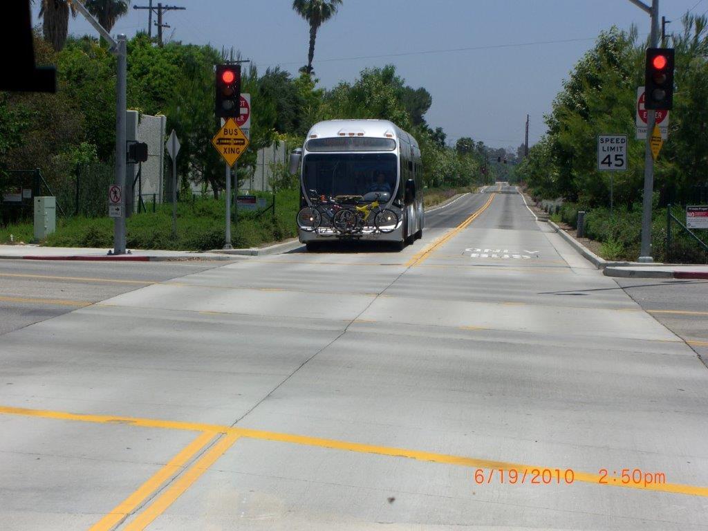 Bus Rapid Transit line in Los Angeles. Photo by Robert Bauman.