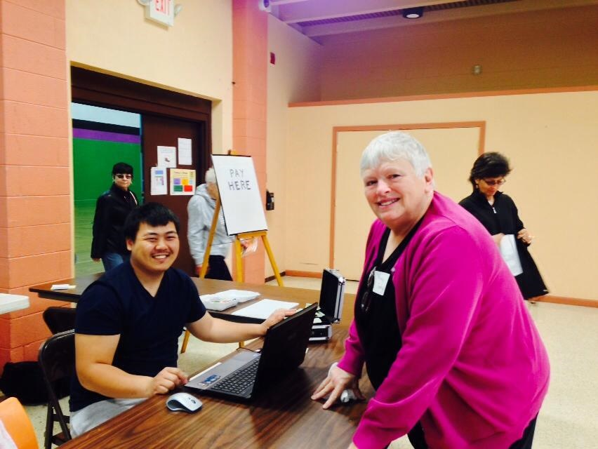 Nancy Torphy volunteering at Spaces & Traces in Layton Boulevard West at Ascension Lutheran Church. Photo courtesy of the Nonprofit Center of Milwaukee.