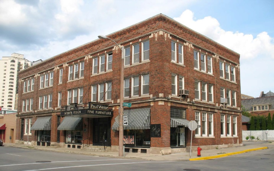 1534 N. Farwell Avenue, the Paul Weise Furniture Building. Photo from the City of Milwaukee.