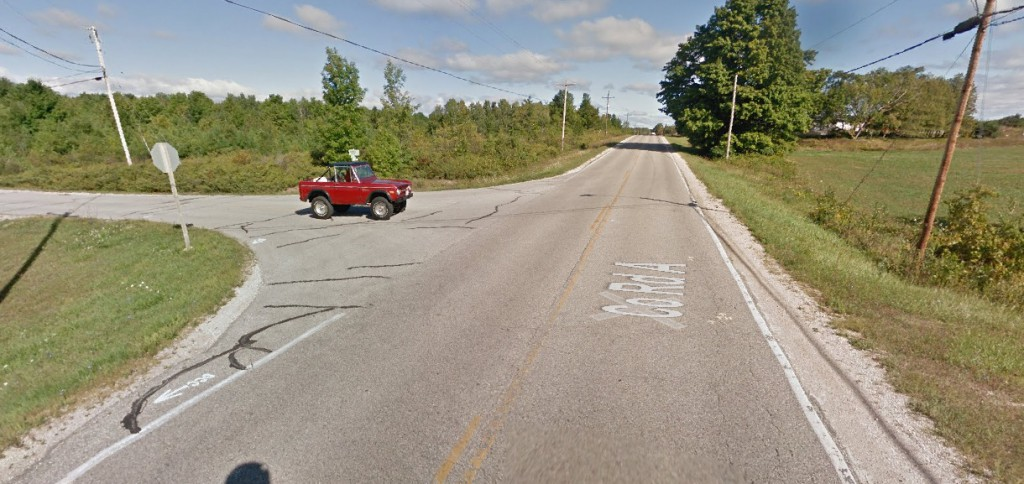 This screenshot from Google Maps shows the intersection where the fatal crash occurred. The view of the intersection is from the south, facing toward the direction the person driving the van came from.