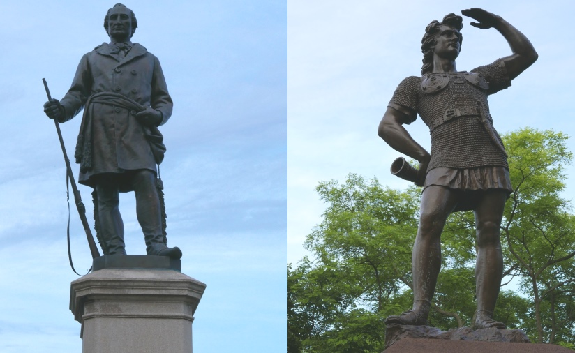 Solomon Juneau and Leif, the Explorer. Photos by Graham Kilmer.