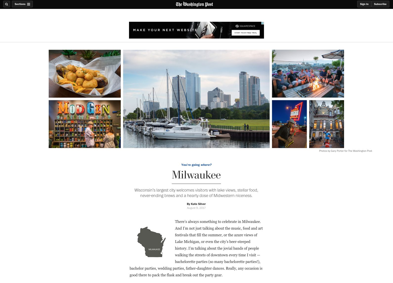 Milwaukee Featured in The Washington Post.