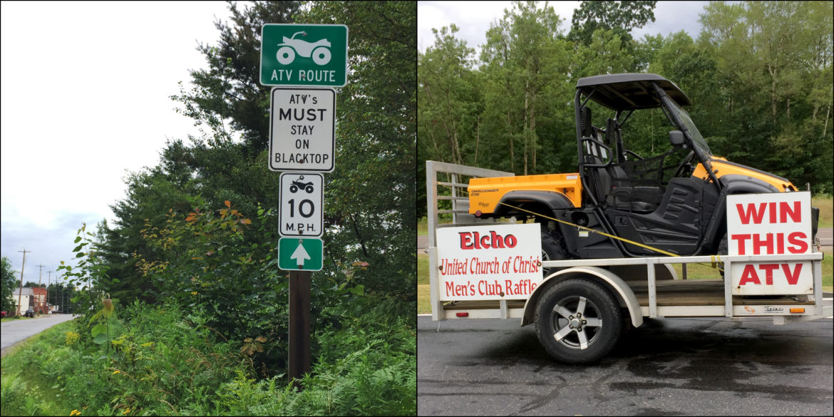 Many communities in central and northern Wisconsin have designated public roadways for off-road vehicle use. Safety advocates warn that about half of all deaths on all-terrain vehicles now occur on roads — even those designated as ATV routes. Photos taken Aug. 3, 2017 in Langlade County, Wis. Photos by Mary Matthias of the Wisconsin Center for Investigative Journalism.