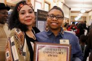 Open housing marcher passes legacy of activism to daughter Chantia Lewis. Photo courtesy of NNS.