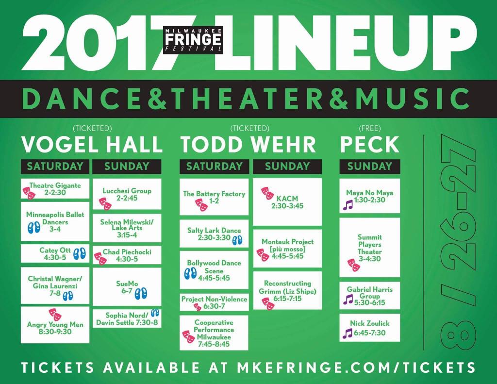 2017 Fringe Lineup