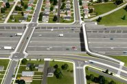 Expansion of Denver's I-70 freeway. Rendering from the Colorado DOT.
