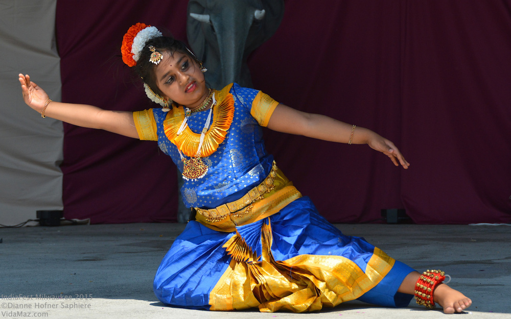 A young girl in traditional dress performs during a past IndiaFest Milwaukee. This year's free event at Humboldt Park is Aug. 19, from 11 a.m.-9 p.m.