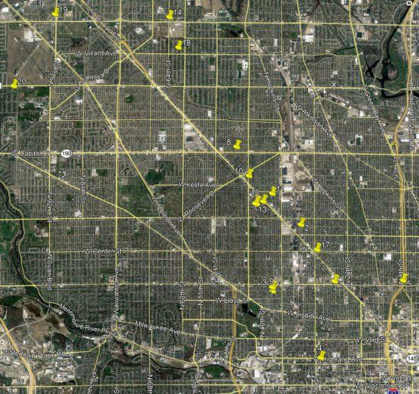 Map of arrests.