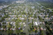 Flooding from Harvey in a residential area in Southeast Texas. Photo from the U.S. Department of Defense.