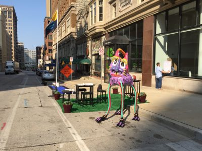 Downtown activates parking spaces into vibrant public spaces for one-day event