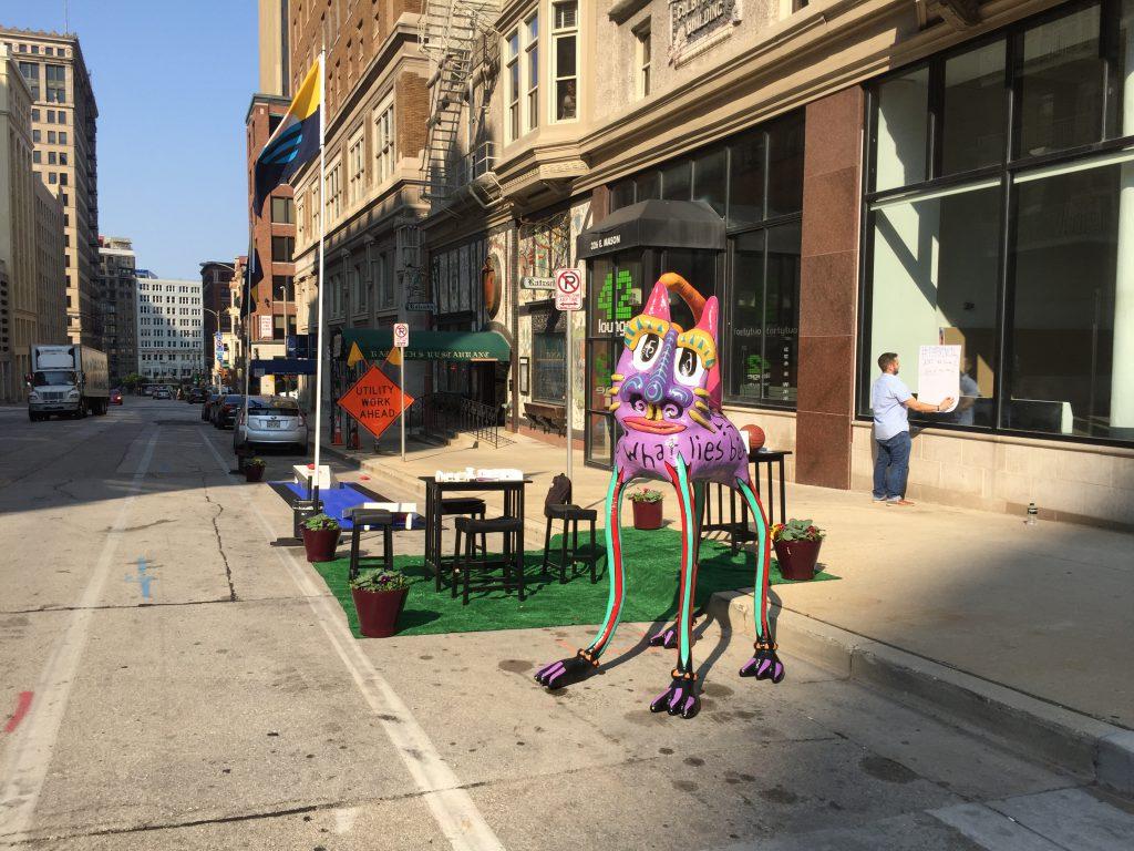 Urban Milwaukee PARK(ing) Day Setup