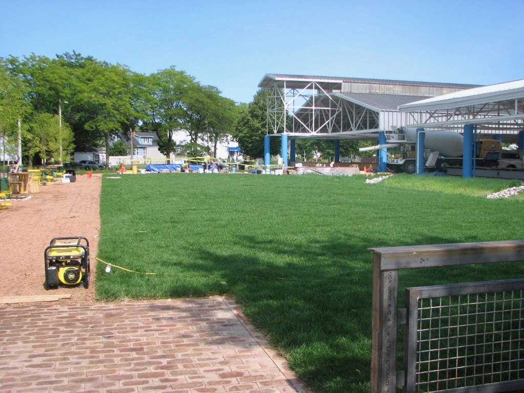 Fondy Park will feature a stage that will host concerts and poetry readings for community members to enjoy. Photo by Lydia Slattery.