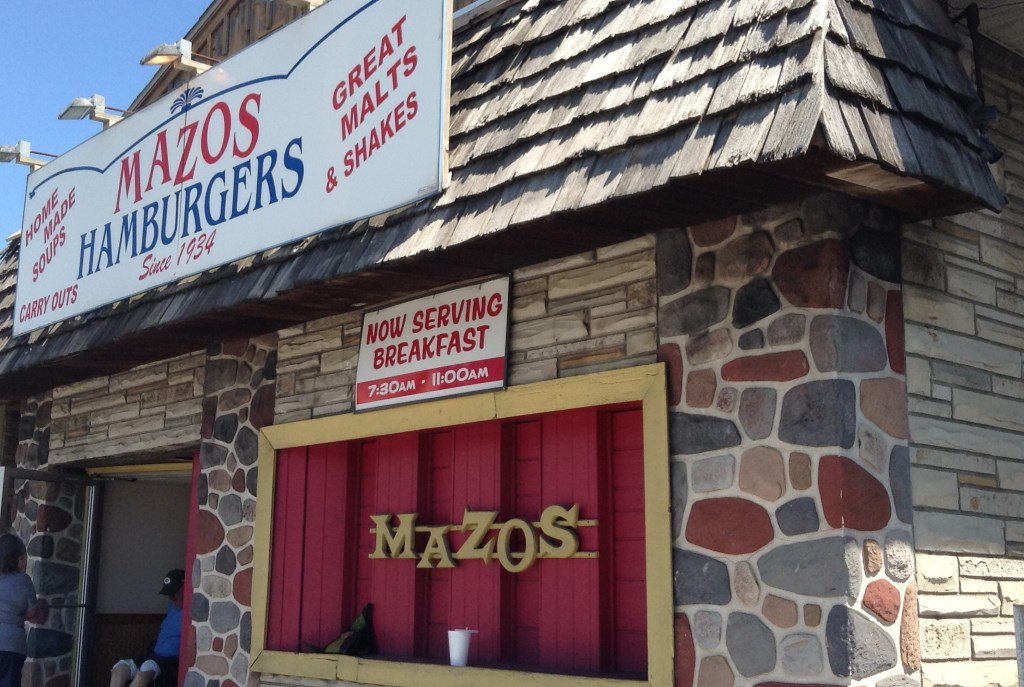 Mazos Hamburgers. Photo taken August 15th, 2017 by Cari Taylor-Carlson.