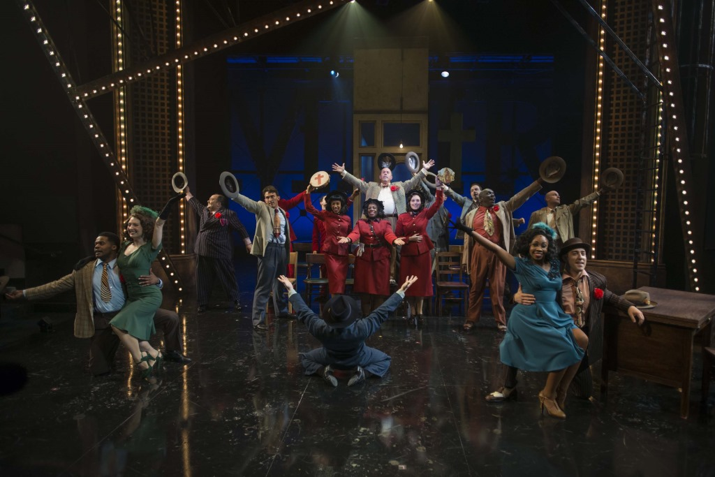 Milwaukee Repertory Theater presents Guys and Dolls in the Quadracci Powerhouse from September 19 to October 29, 2017. Photo by Michael Brosilow.