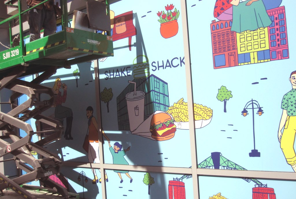 Shake Shack's signage. Photo by Michael Horne.