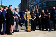Key to Change Unveiling. Photo from Milwaukee Downtown.