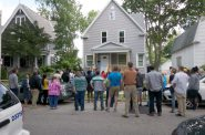 The first home refurbished under the City of Milwaukee's Re-Invest in City Homes initiative. Photo by Graham Kilmer.