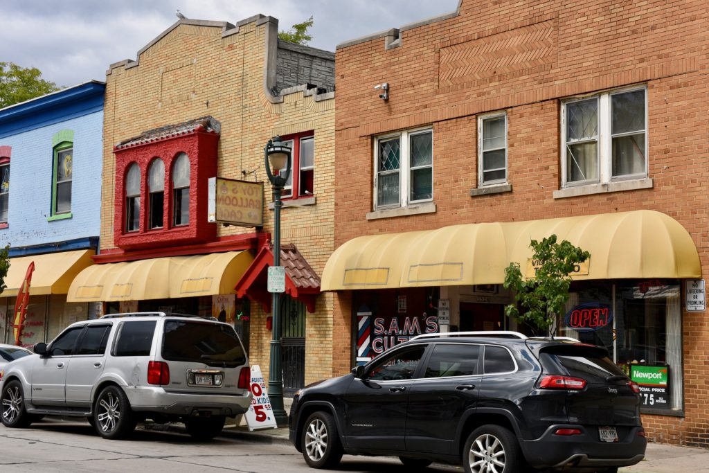 Small businesses line Villard Avenue on the city's North Side. (Photo by Sue Vliet)