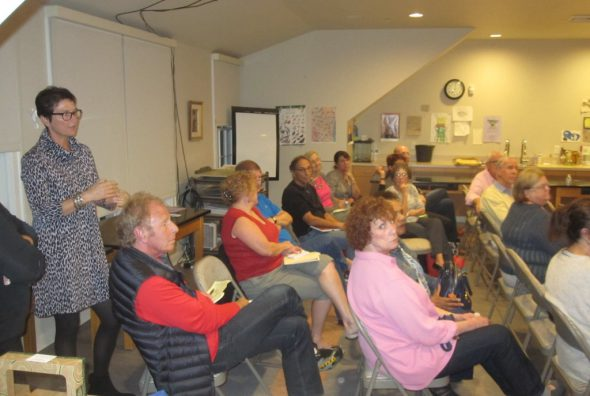 Community meeting. Photo by Michael Horne.